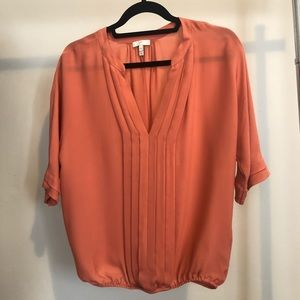 JOIE - silk blouse- peach, new